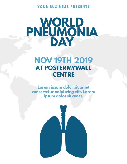 World Pneumonia Day Flyer Template