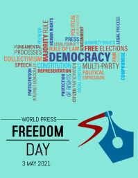 WORLD PRESS FREEDOM DAY Flyer (US Letter) template