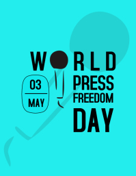 WORLD PRESS FREEDOM DAY Volante (Carta US) template