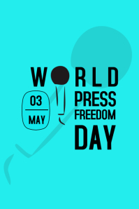 WORLD PRESS FREEDOM DAY Poster template