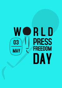 WORLD PRESS FREEDOM DAY A4 template