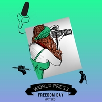 WORLD PRESS FREEDOM DAY Instagram Post template
