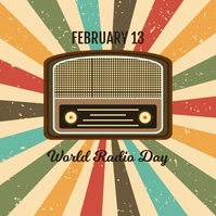 World Radio Day Template Vierkant (1:1)
