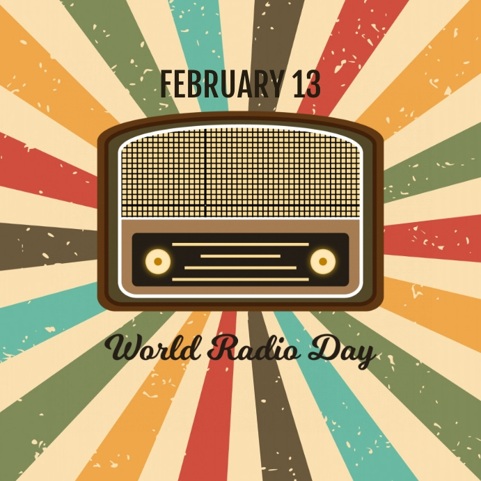 World Radio Day Template Cuadrado (1:1)