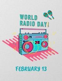 World Radio Day Template Løbeseddel (US Letter)