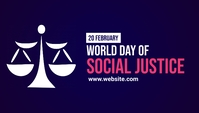 World Social Justice Day Template Blog-Kopfzeile