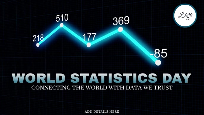 World Statistics Day Template Facebook 封面视频 (16:9)