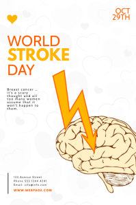 World Stroke Day Flyer Design Template