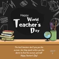 WORLD TEACHERS DAY Instagram Plasing template