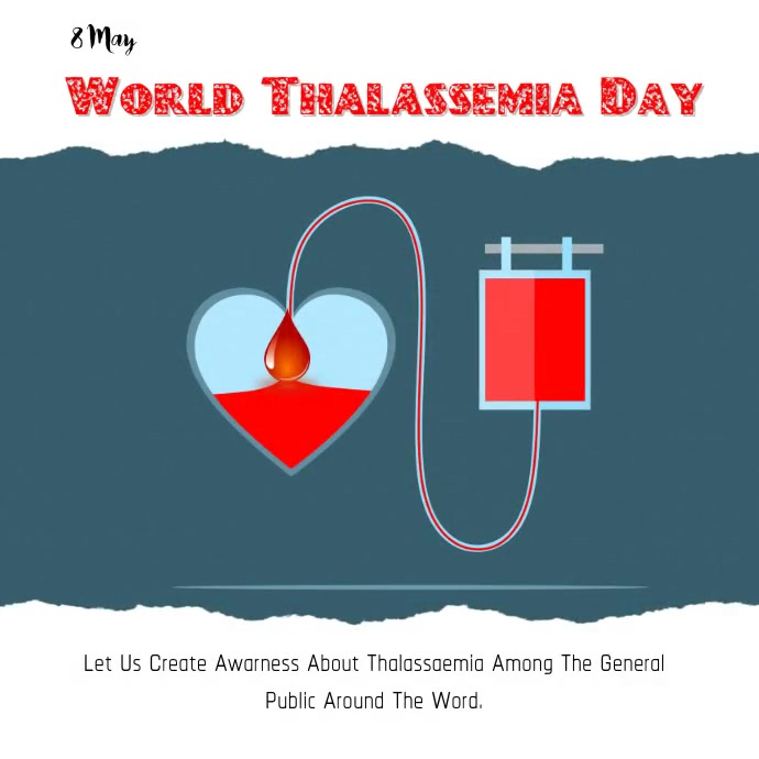 World Thalassemia Day Instagram 帖子 template