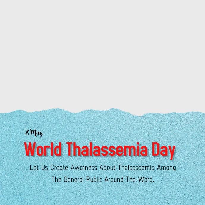 World Thalassemia Day Instagram-Beitrag template