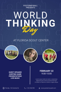 world thinking day flyer template Poster