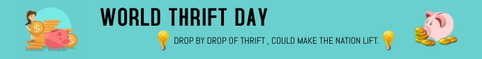 WORLD THRIFT DAY Leaderboard template