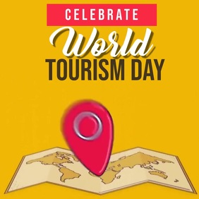 world tourism day ad SOCIAL MEDIA TEMPLATE Square (1:1)