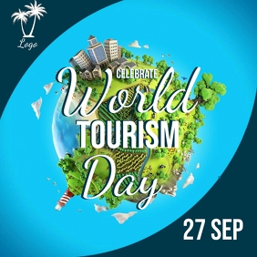 world tourism day AD Template Square (1:1)