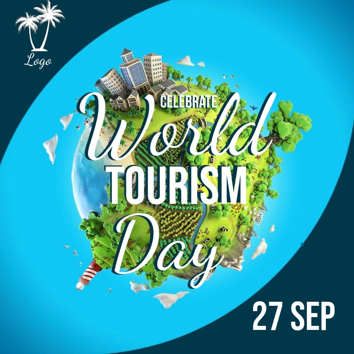 world tourism day AD Template สี่เหลี่ยมจัตุรัส (1:1)