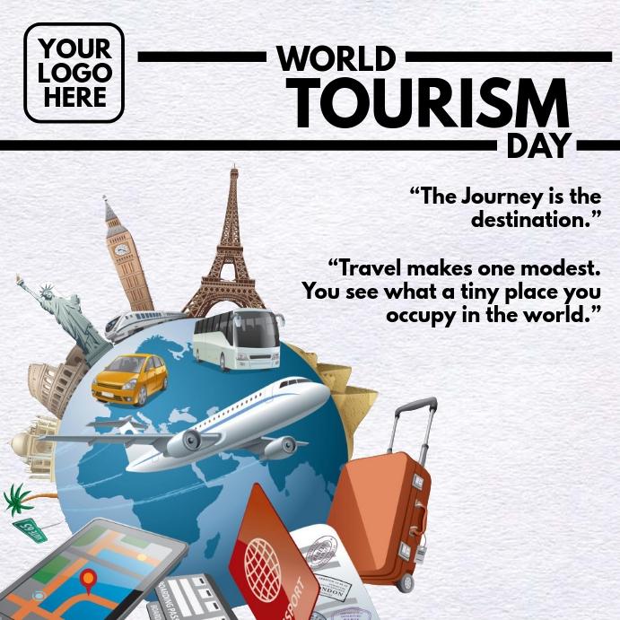 World Tourism Day Promo Template สี่เหลี่ยมจัตุรัส (1:1)
