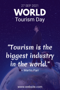 World Tourism Day Quote Pinterest Graphic template