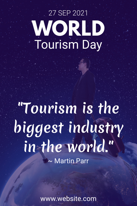 World Tourism Day Quote Pinterest 图片 template