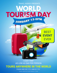 World Tourism Day Travel Plan Flyer template