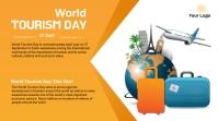 World Tourism Day Twitter post Twitter-Beitrag template