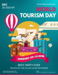 World Tourism Green Poster