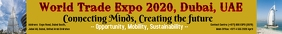 World Trade Expo 2020 Dubai Leaderboard template