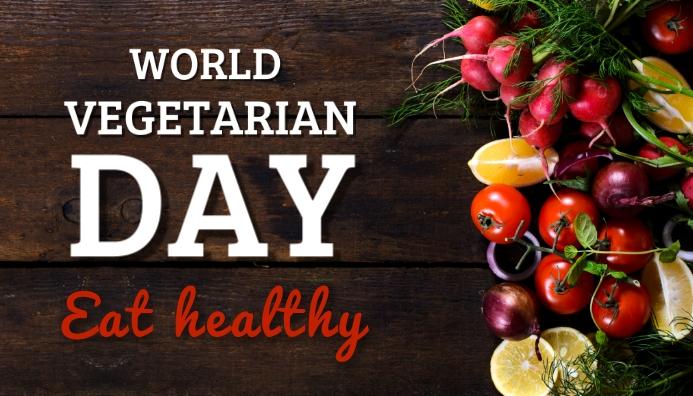 World vegetarian day,event Blog Header template