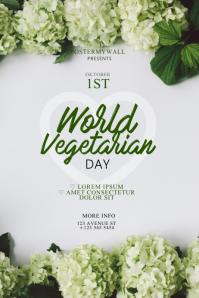 World Vegetarian Day Flyer Design Template