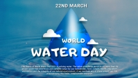 World water day,event Pos Twitter template