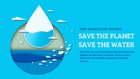World water day,event Header Blog template