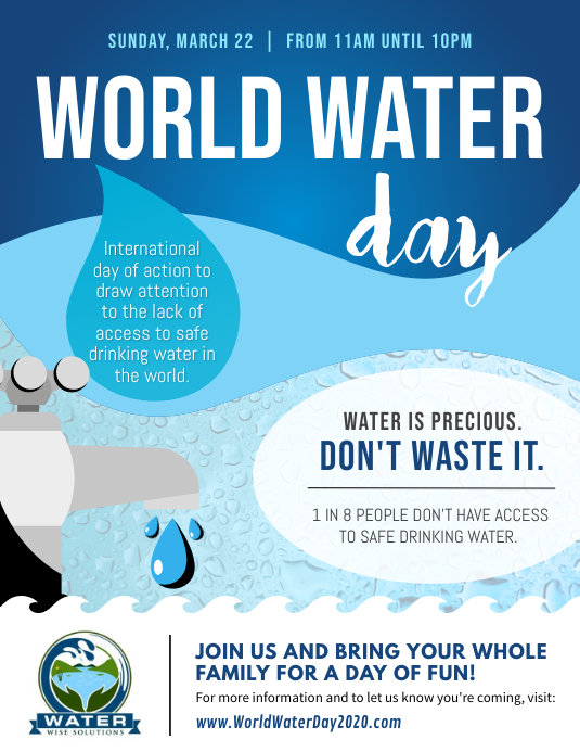 World Water Day Awareness Campaign Flyer