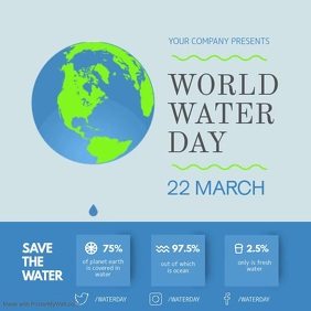 World Water Day Awareness Campaign Square Vid