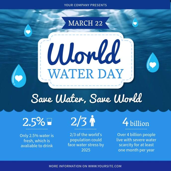 World Water Day Awareness Instagram Video