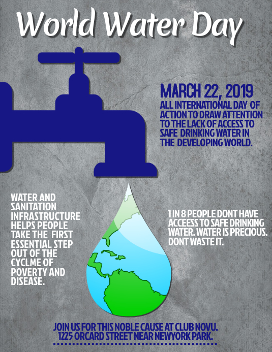 World Water Day Flyer, Water Day Awareness