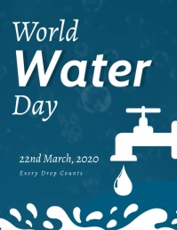 world water day flyer