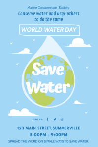 World Water Day Slogan Leaflet