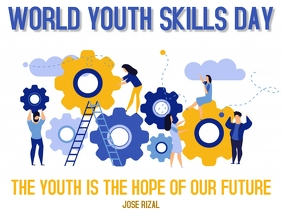 World Youth Skills Day Template Flyer (Letter pang-US)