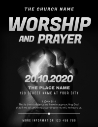 Worship and Prayer Night Church Event Flyer