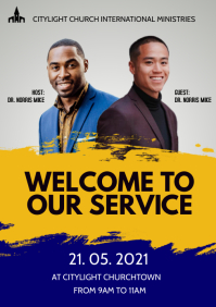 WORSHIP church flyer A3 template
