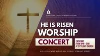 WORSHIP church flyer Digital Display (16:9) template