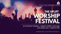 worship church flyer 数字显示屏 (16:9) template