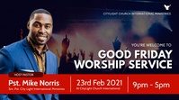 WORSHIP church flyer Digitale Vertoning (16:9) template