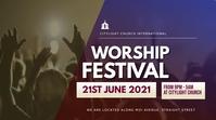 WORSHIP church flyer Ekran reklamowy (16:9) template