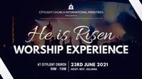 WORSHIP church flyer งานแสดงผลงานแบบดิจิทัล (16:9) template