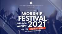 worship church flyer 数字显示屏 (16:9) template