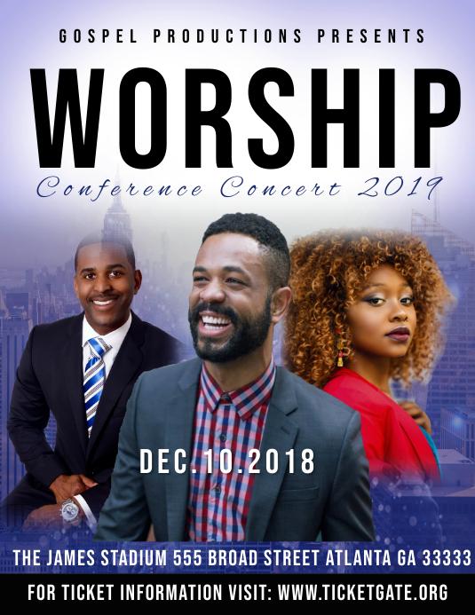 Worship Concert 2019 Volante (Carta US) template