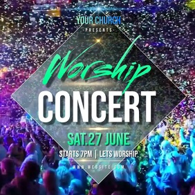 WORSHIP CONCERT AD INSTAGRAM POST Template