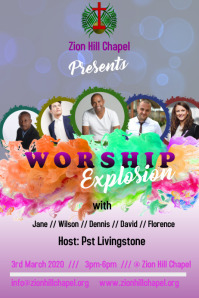 Worship Concert Flier Template