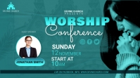 worship conference Twitter Post template